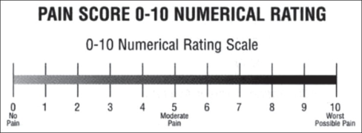 Figure 1: Numerical rating scale