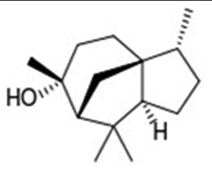 Figure 1: Chemical structure of cedrol